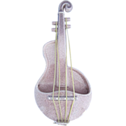 Red Wing Fleck Zephyr Pink Violin Planter, ca. 1955-1962