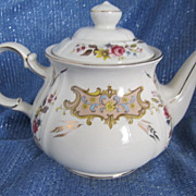 REDUCED Sadler  Floral Teapot, Gold Embellished, Numbered - Made in England