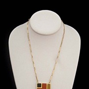 SALE SARAH COVENTRY Modernist Geometric Necklace: Sixties-Look Chic