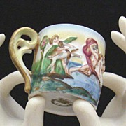 Vintage CAPODIMONTE Putti-Cherub Cup: Occupied Japan