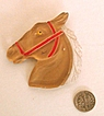 Vintage Clear Lucite Horse Brooch: Almost Perfect!