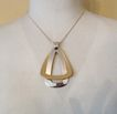 Big Vintage NAPIER Modernist Pendant Necklace