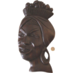 Large Vintage Wooden African Lady Face Wall Hanging: Retro!
