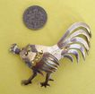 Large, Handsome Rooster Brooch: Sterling Silver; Handmade