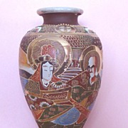 "SALE Good-Sized Satsuma-Style Vase: Vintage: ""Made in Japan"": Probably c. 1930s"