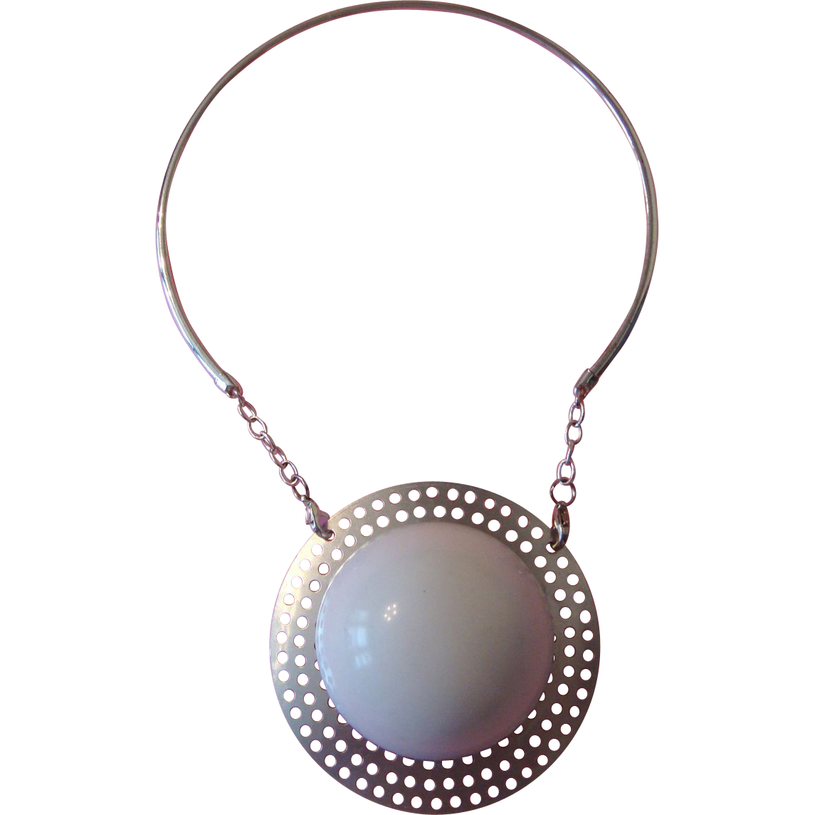 "Mod or Modernist ""Snowball"" Pendant Necklace"