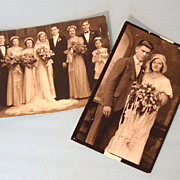 C. 1920s Wedding Photo Duo:  Jazz Age Brides & Grooms