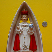 SALE Jesus, Infant of Prague, Planter:  Made in Japan: Circa 1950s-'60s: Porcelain or China