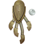 Huge JACK SMILE Articulated Brooch:  African Styling & Super Cool