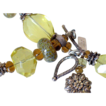 "Gem Lemon Quartz & Boro Charm Bracelet by Pilula Jula ""lap of luxury"""
