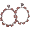 "Earthy Pink Rhodochrosite Hoop Earrings by Pilula Jula ""petal parade"""