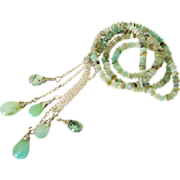"Peruvian Opal Lariat Necklace by Pilula Jula ""Slippery Slopes"""