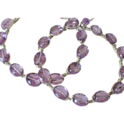 "Gem Amethyst Hoop Earrings by Pilula Jula ""ambitious"""