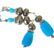 "Sleeping Beauty Turquoise & Pyrite Earrings by Pilula Jula ""sierra leone"""