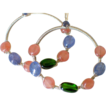 "Wire Wrapped Gemstone Hoop Earrings by Pilula Jula ""brave dancing"""