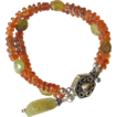 "Double Strand Orange & Green Gemstone Bracelet  by Pilula Jula ""word on the street"""