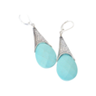 Aqua Turquoise Signature Earrings by Pilula Jula &quot;Five Seconds&quot;
