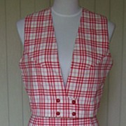 SALE 1960s Vintage Maxi Skirt and Matching Vest