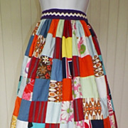 Fabulous 1970s Patchwork Maxi Skirt