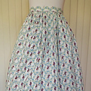 1950s White Cotton Full Skirt