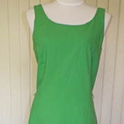 1960s St. Patrick's Day Green Sun Dress - Serbin