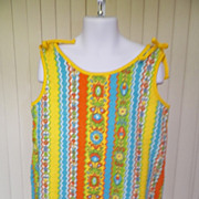1970s Little Girl's Swim Suit Cover Up or Top