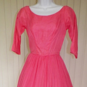 1950s Vintage Coral Cocktail / Party Dress
