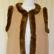 1970s Hippie Vest with Embroidery & Faux Fur