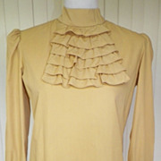 1960s Yellow Cotton Suit Blouse / Top