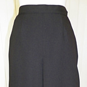 1970s Basic Black Polyester Pleated Skirt