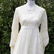 SOLD 1960s Wedding Gown - Lace and Chiffon - Alfred Angelo