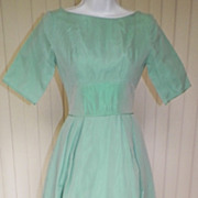 1960s Sage Green Formal / Bridesmaid Dress
