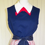 1960s/ 1970s Red, White & Blue Office Dress - NWT