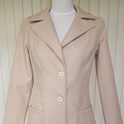 1970s Vintage Tan Polyester Jacket / Coat