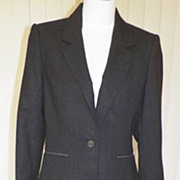 1980s Dark Charcoal Gray Suit - New With Tags