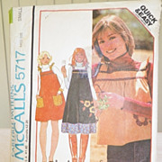 1977 McCall's Pattern 5717 - Misses Jumper or Top
