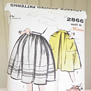 1950s Advance Pattern 2866 - Misses Skirts - Full Flare