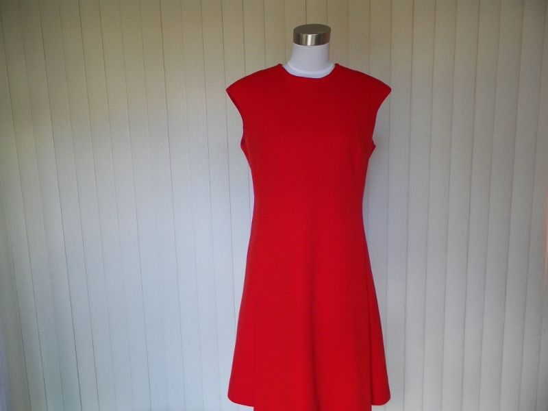 1960s Red Scooter / Office Dress