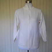1970s Ivory Sweater by LeRoy Knitwear