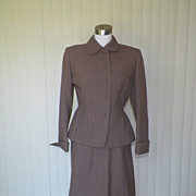 1940s / 1950s Checked Taupe Suit - Shim's