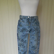 SOLD 1980s Wrangler Jeans with Palm Tree Design