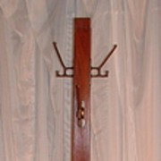 SOLD Hat/coat rack: Mahogany