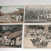 REDUCED Vintage Early 1900s Lot of seven Black Native Postcards 5 Jamaica 1 Barbados 1 ...
