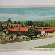 Vintage Dafoe Hospital & Playhouse Of Dionne Quintuplets Postcard