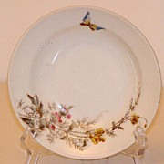 "Charles Field Haviland Gerard Dufraisseix & Morel Limoges Meadow Visitor 7 1/2"" Dessert P"