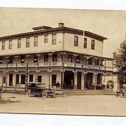 1929 Real Photo Postcard Moose River House Jackman Maine