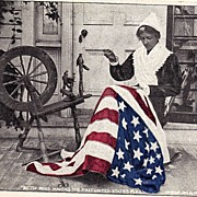 1903 Betsy Ross Making The First United States American Flag Undivided Back