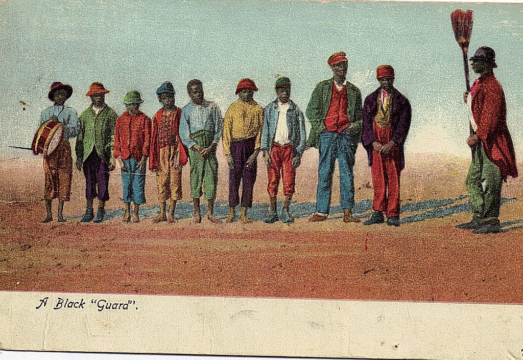 Black Americana Postcard Early 1900s A Black Guard