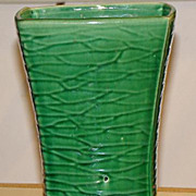 McCoy Pottery Green Glaze Rectangular Art Deco Vase