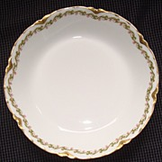 "Haviland Limoges China "" Clover Leaf "" Pattern Soup Bowl"